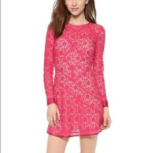 Marc Jacobs Pink Leila Lace Dress